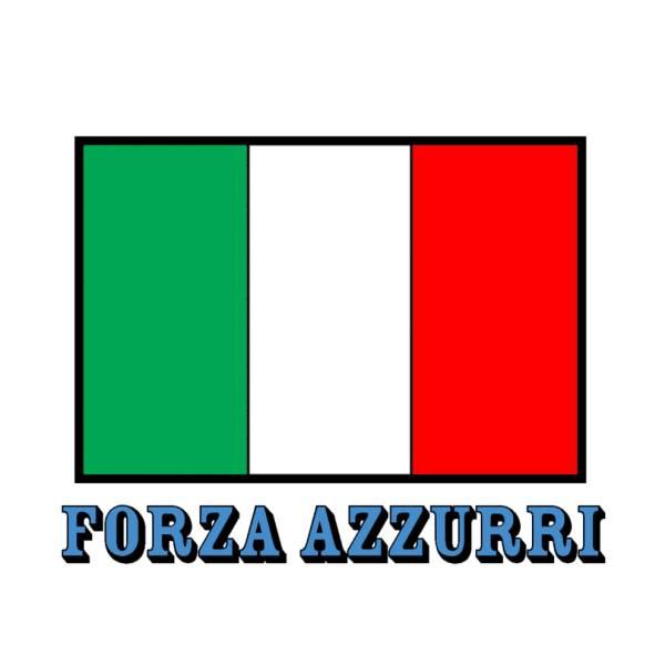 Disegno di Bandiera Italia Forza Azzurri a colori