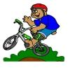 Disegno di Mountain Bike a colori