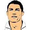 disegno di Cristiano Ronaldo a colori
