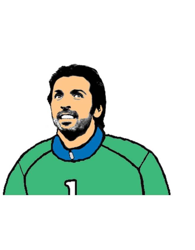 disegno di Gianluigi Buffon a colori