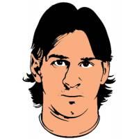 Disegno di Lionel Messi a colori