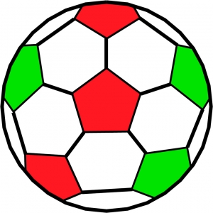 Disegno di pallone da calcio a colori per bambini gratis for Disegni da colorare calcio