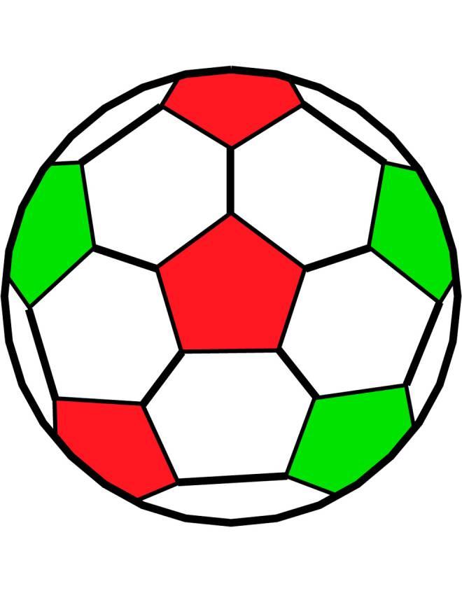 Disegno di pallone da calcio a colori per bambini - Immagini di tacchini a colori ...