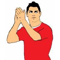 disegno di Ronaldo a colori
