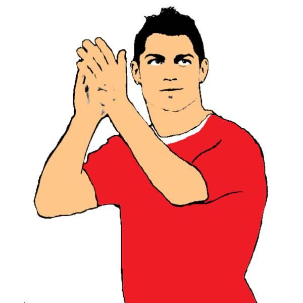 Disegno Di Ronaldo A Colori Per Bambini Disegnidacolorareonlinecom