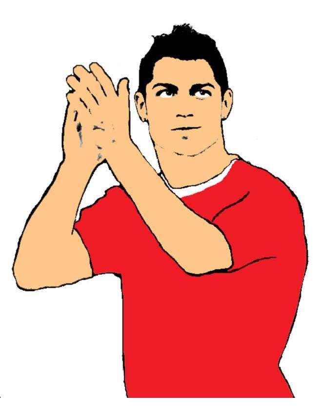 Disegno Di Ronaldo A Colori Per Bambini