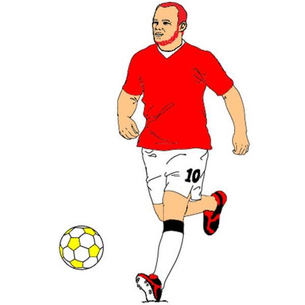Disegno di Rooney a colori