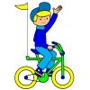 Disegno di Giro in Bici a colori