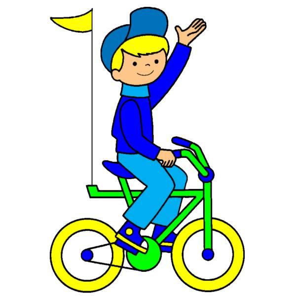 Disegno Di Giro In Bici A Colori Per Bambini