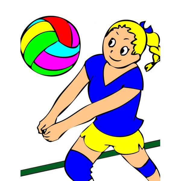 Disegno di La Ragazza della Pallavolo a colori