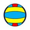 Disegno di Pallone da Pallavolo a colori