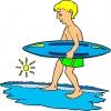disegno di Surf e Mare a colori