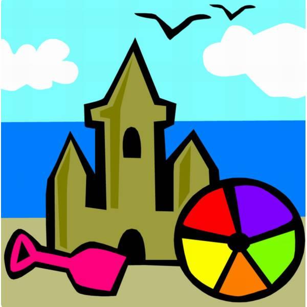 Disegno Di Castello Di Sabbia Al Mare A Colori Per Bambini