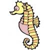 Disegno di cavalluccio marino da colorare per bambini for Cavalluccio marino disegno