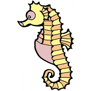 Disegno di cavalluccio marino a colori per bambini gratis for Cavalluccio marino disegno