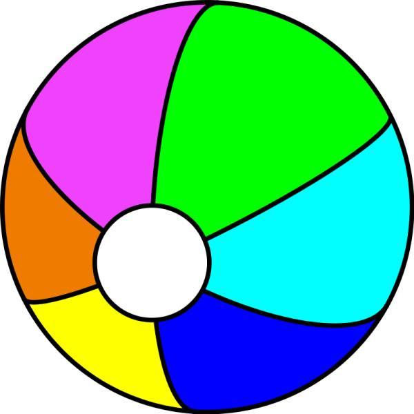 Disegno di pallone da spiaggia a colori per bambini for Disegni da camera da spiaggia