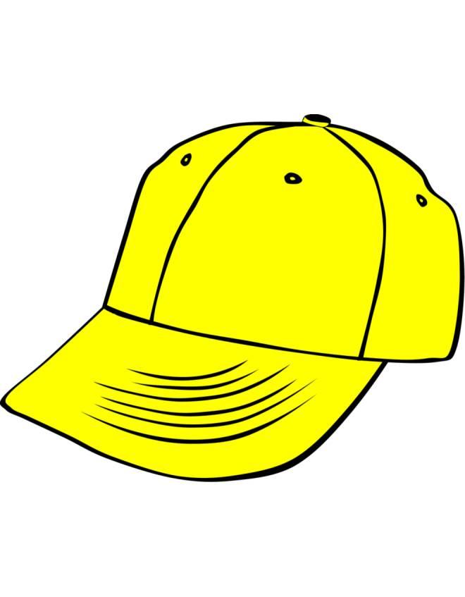 Disegno di berretto giallo a colori per bambini for Cappello disegno da colorare