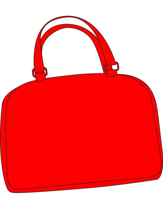 disegno di Borsa Rossa a colori