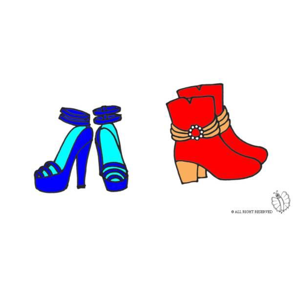 Disegno di Scarpe a colori