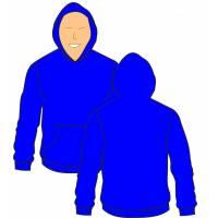 Disegno di Felpa Blu a colori