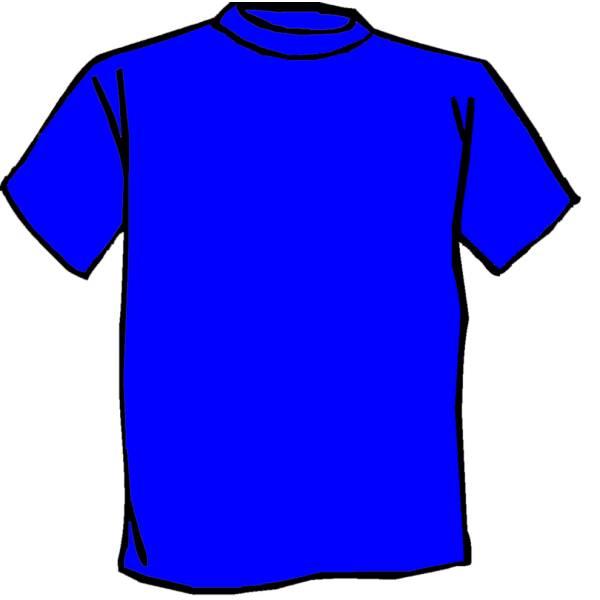 Disegno di Maglietta Blu a colori