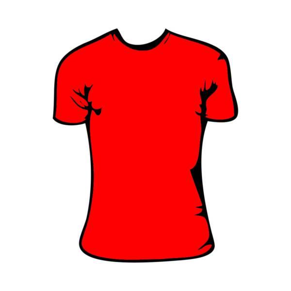 Disegno di Maglietta Rossa Bambina a colori