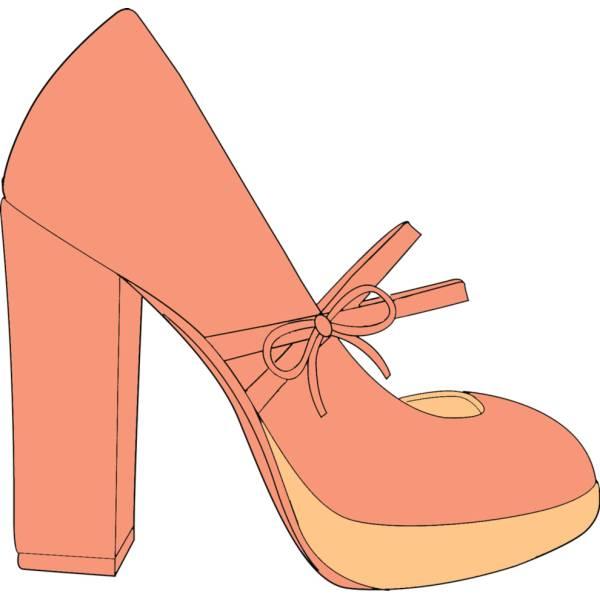 Disegno di Scarpa da Donna a colori