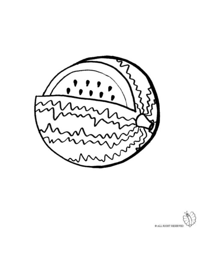 disegno di Anguria da colorare