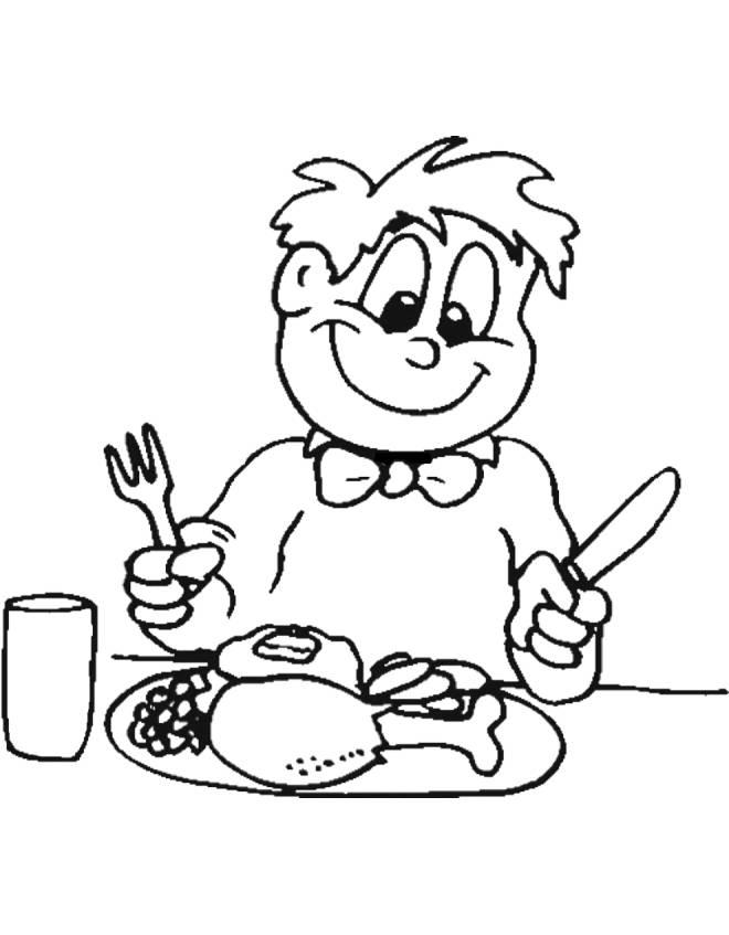 disegno di buon appetito da colorare per bambini