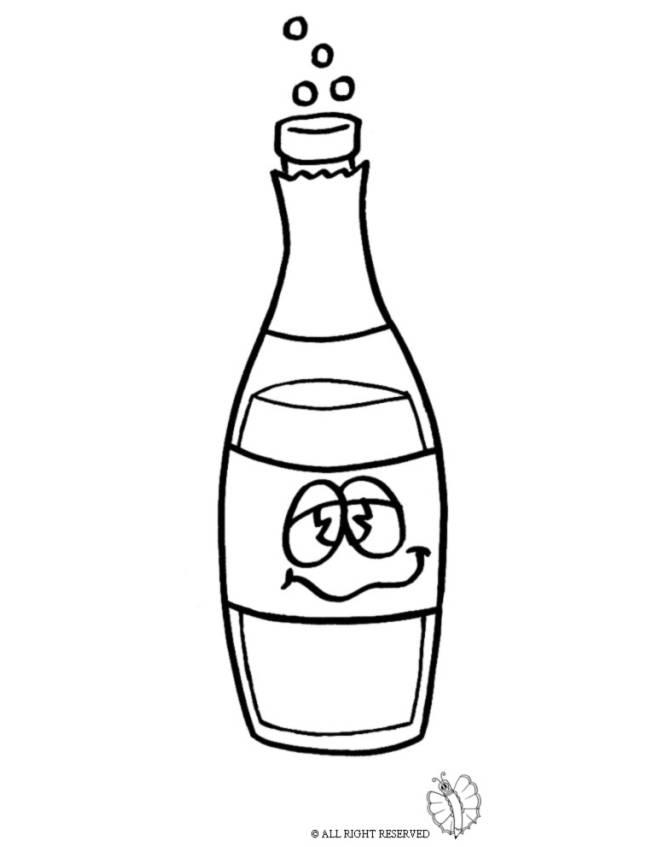 disegno di Bottiglia di Spumante da colorare