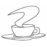 Disegno di Caffè da colorare
