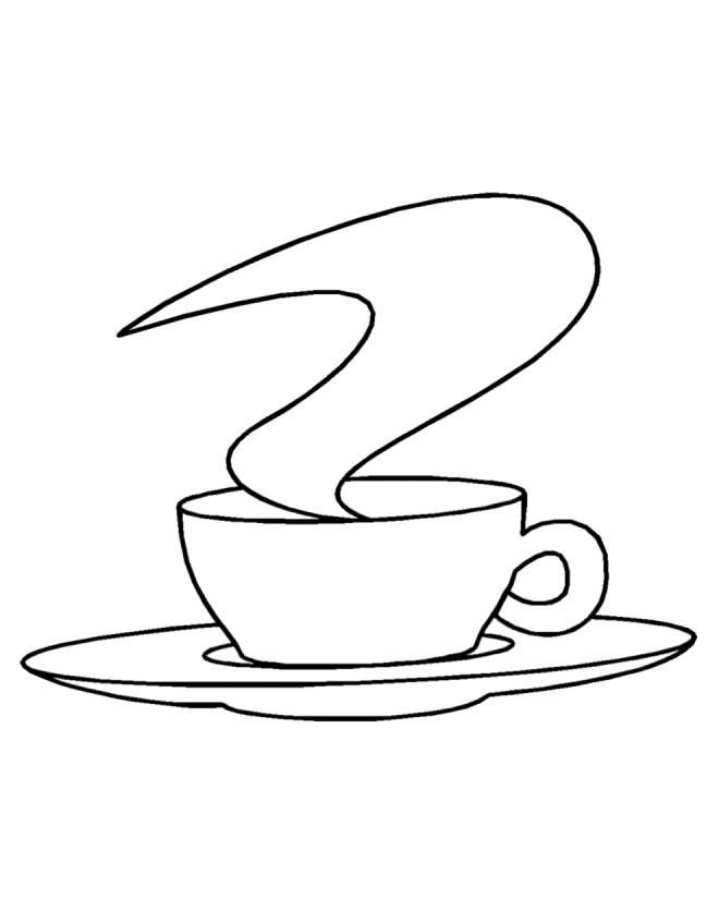 Stampa Disegno Di Caffè Da Colorare