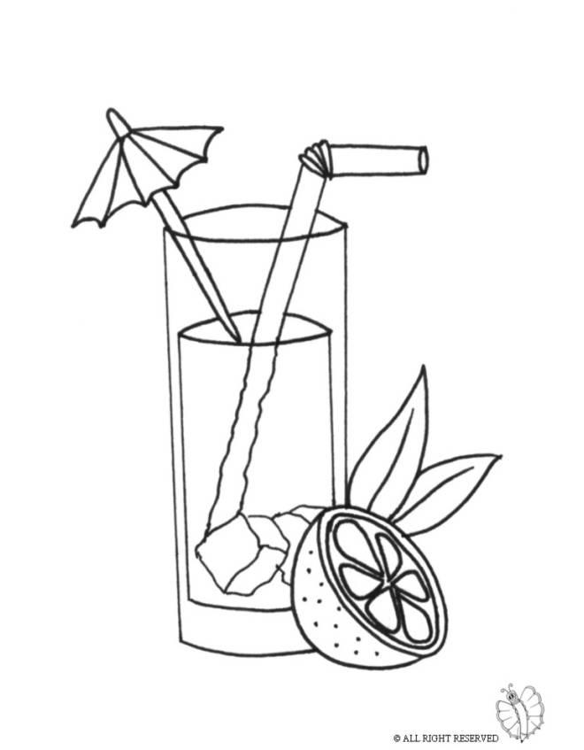 Disegno di Cocktail da colorare per bambini