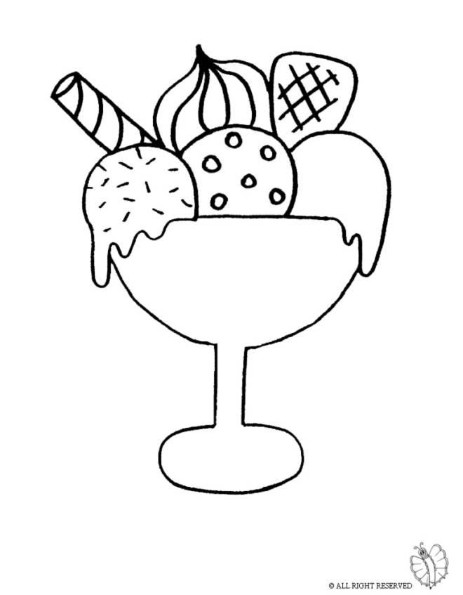 Disegno di Coppa Gelato da colorare per bambini ,  disegnidacolorareonline.com