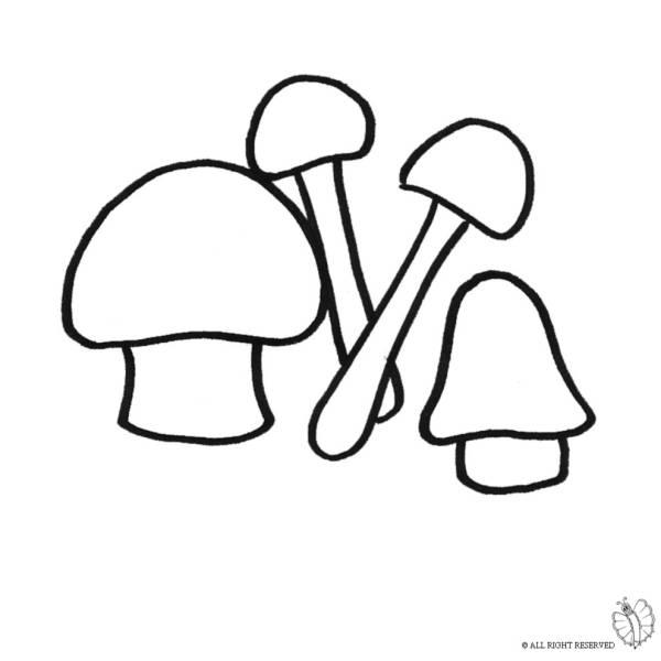 Disegno di funghi da colorare per bambini for Fungo da colorare per bambini