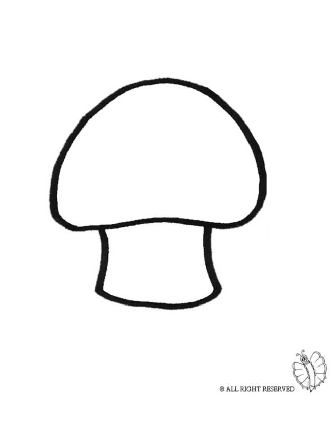 Disegno di fungo da colorare per bambini for Fungo da colorare per bambini