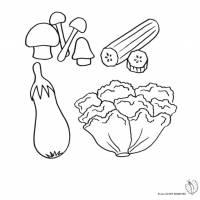 Disegno di Ortaggi e Verdure da colorare