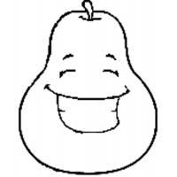 Disegno di Pera con Sorriso da colorare