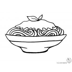 Disegno di Piatto di Spaghetti da colorare