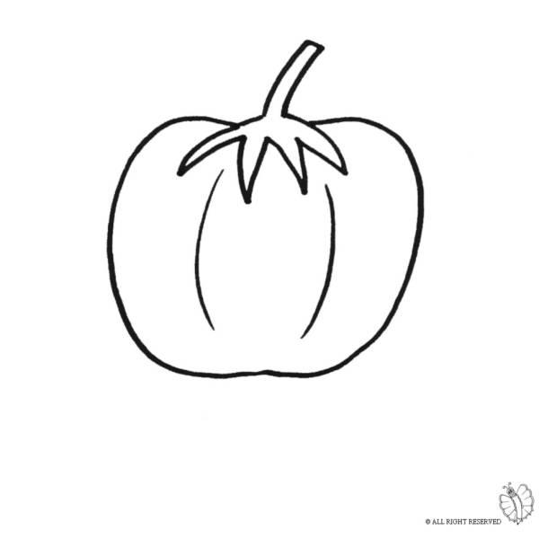 Disegno di Pomodoro da colorare