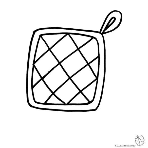 Disegno di presina per cucina da colorare per bambini for Disegno cucina