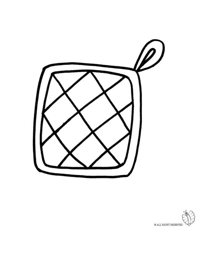 Disegno di presina per cucina da colorare per bambini - Colorare piastrelle cucina ...
