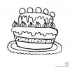 Disegno di Torta Gigante da colorare