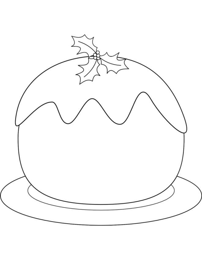 disegno di Dolce di Natale da colorare