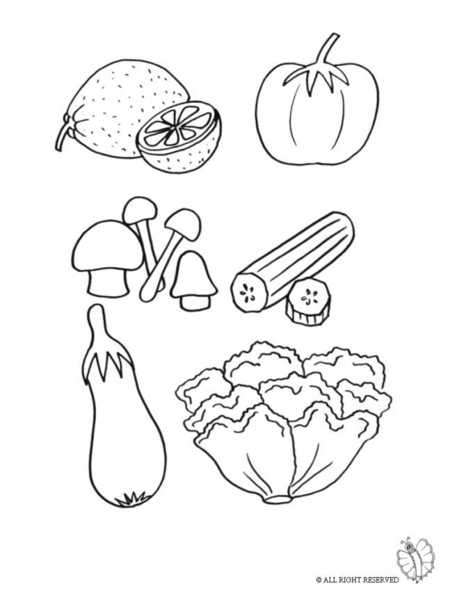 disegno di Vegetali  da colorare