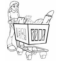 Disegno di Spesa al Supermercato da colorare
