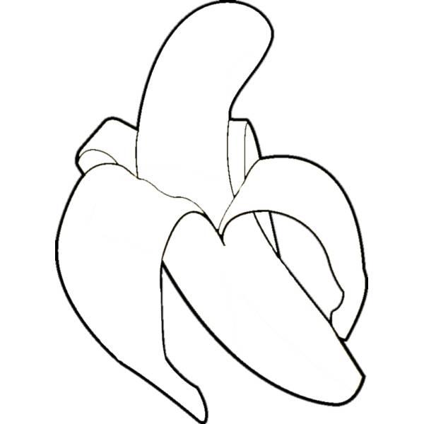 Disegno Di Banana Da Colorare Per Bambini