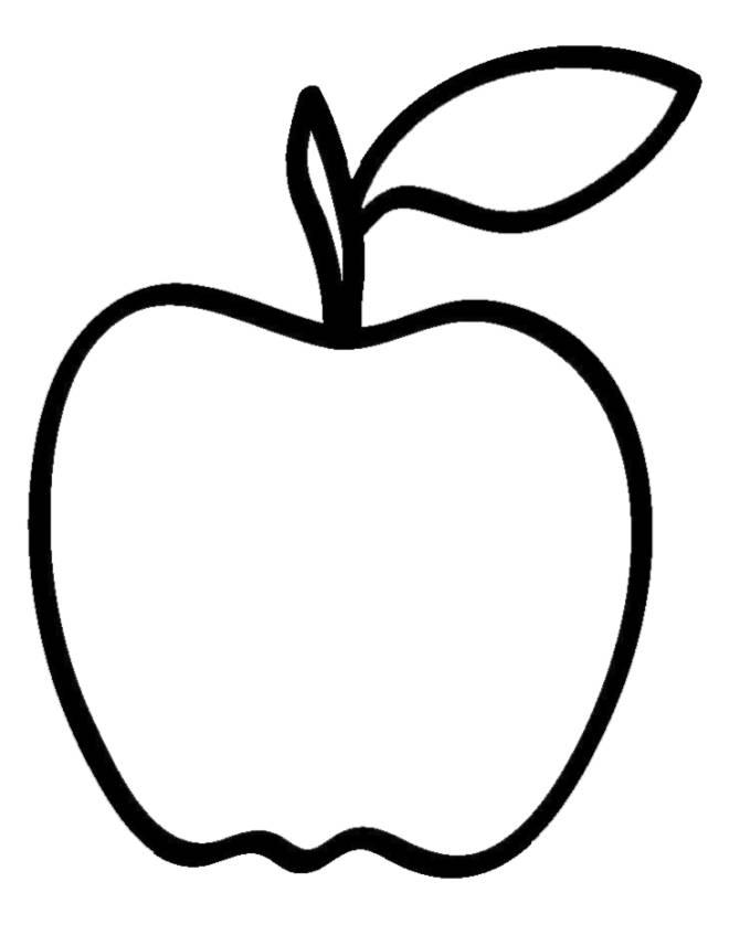 Disegno di mela da colorare per bambini for Disegno pagliaccio da colorare