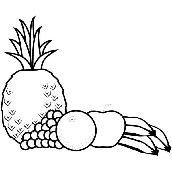 Disegno di Frutta mista da colorare