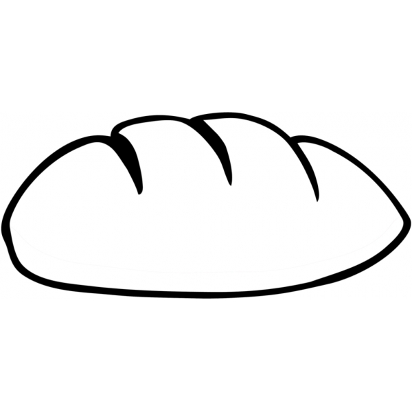 Disegno di Pane da colorare